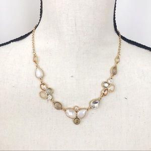 • LOFT • Cream Pumpkin Beige Rhinestone Necklace